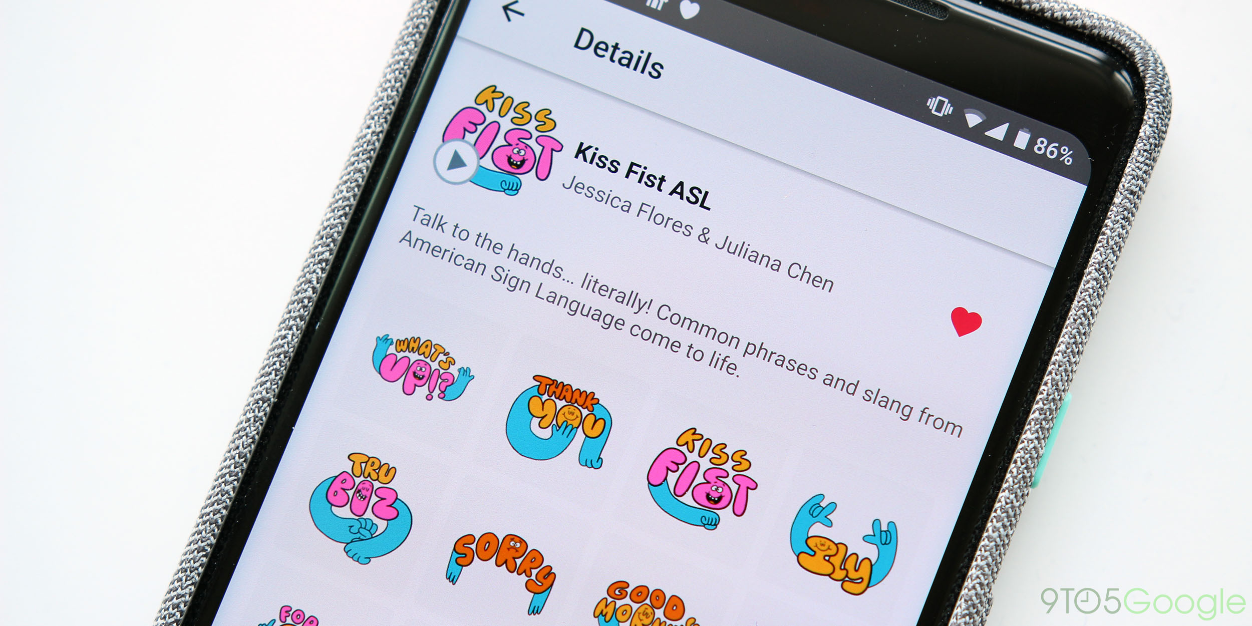 gboard s latest animated sticker pack celebrates american sign language