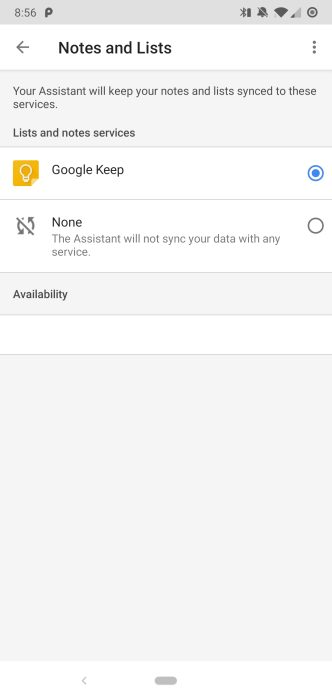 Google Assistant Notes and Lists