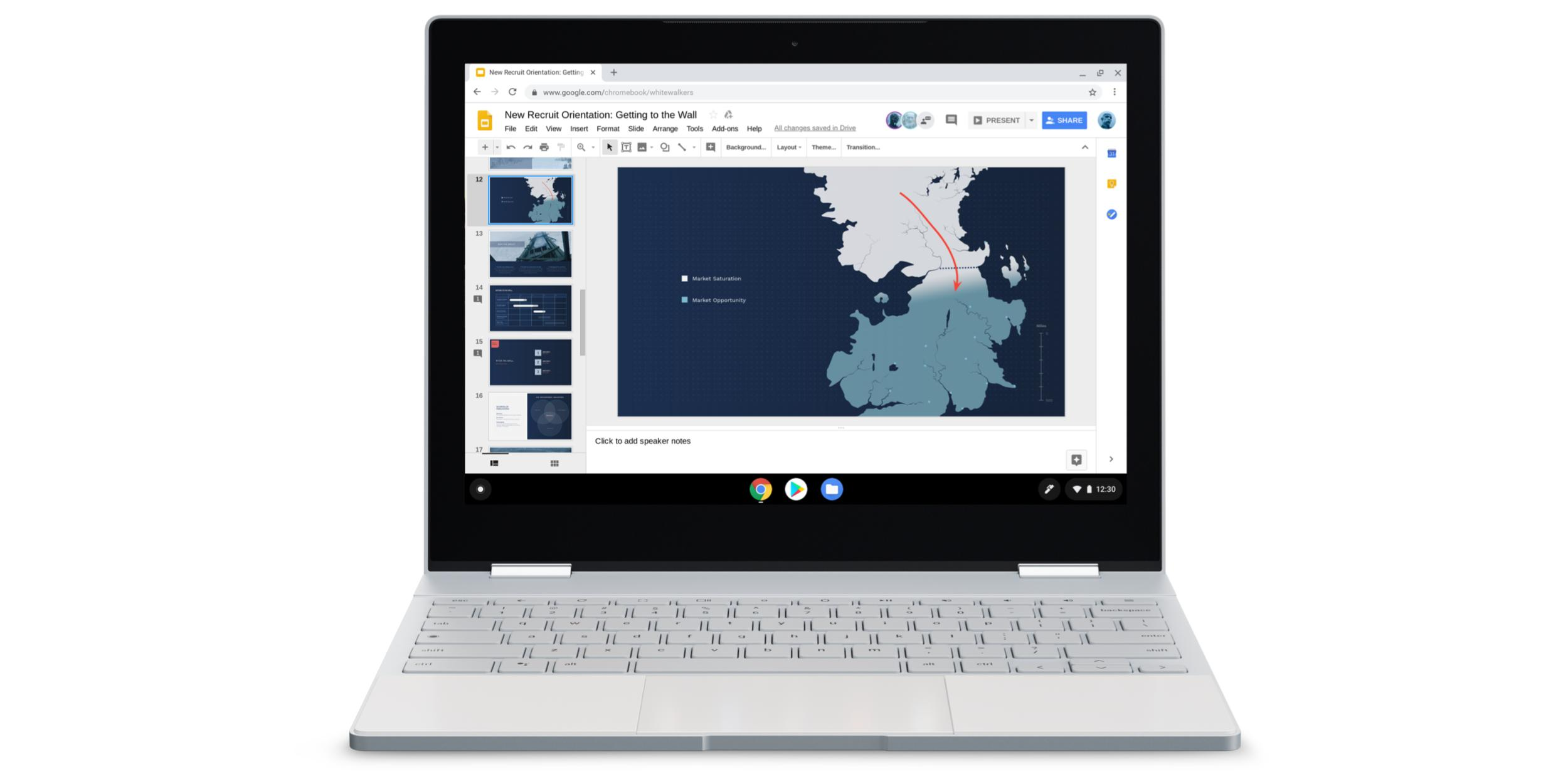 google promoting chromebooks with white walkers from game of thrones