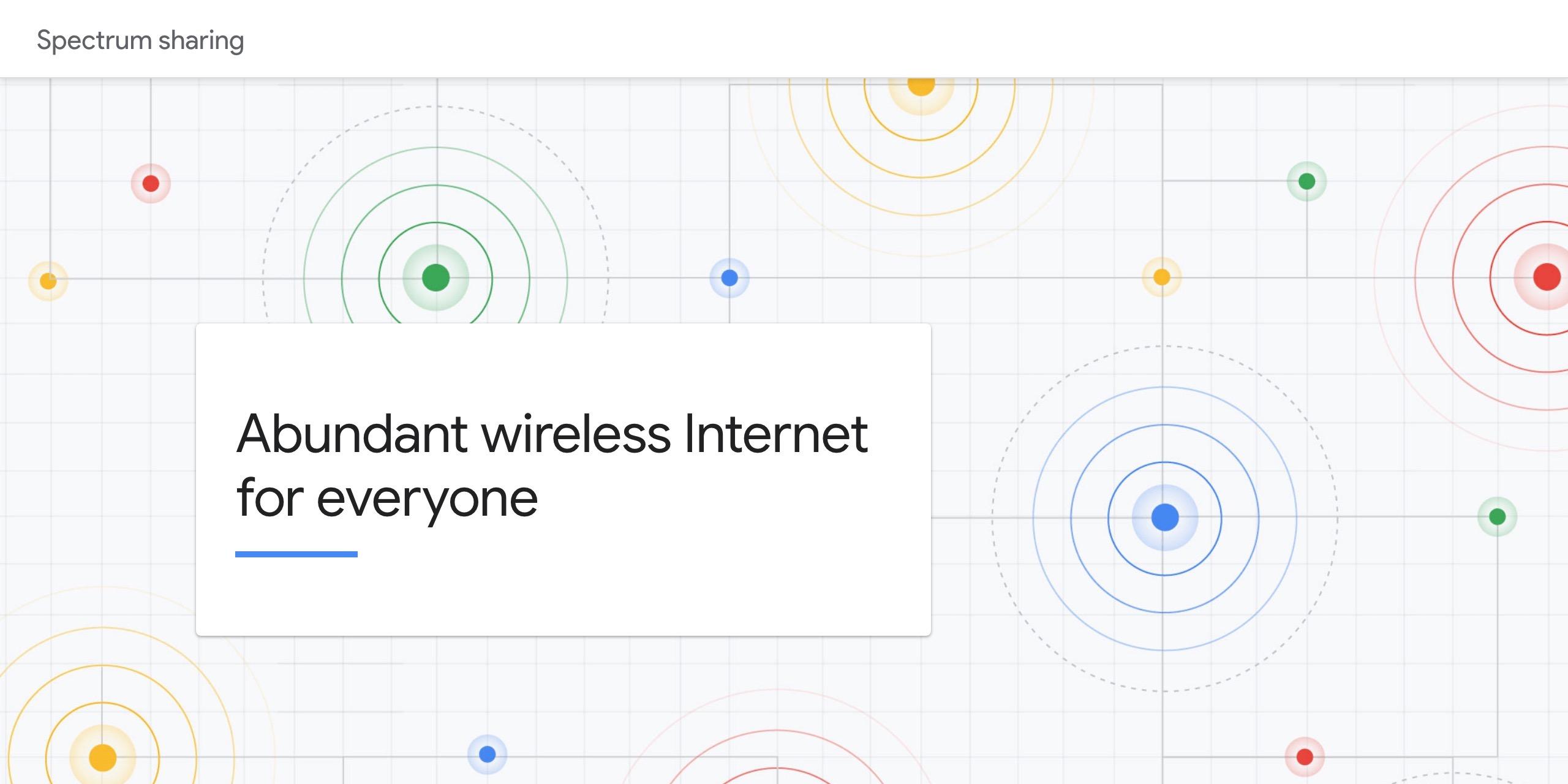 google details its interest in citizens broadband radio service cbrs spectrum sharing