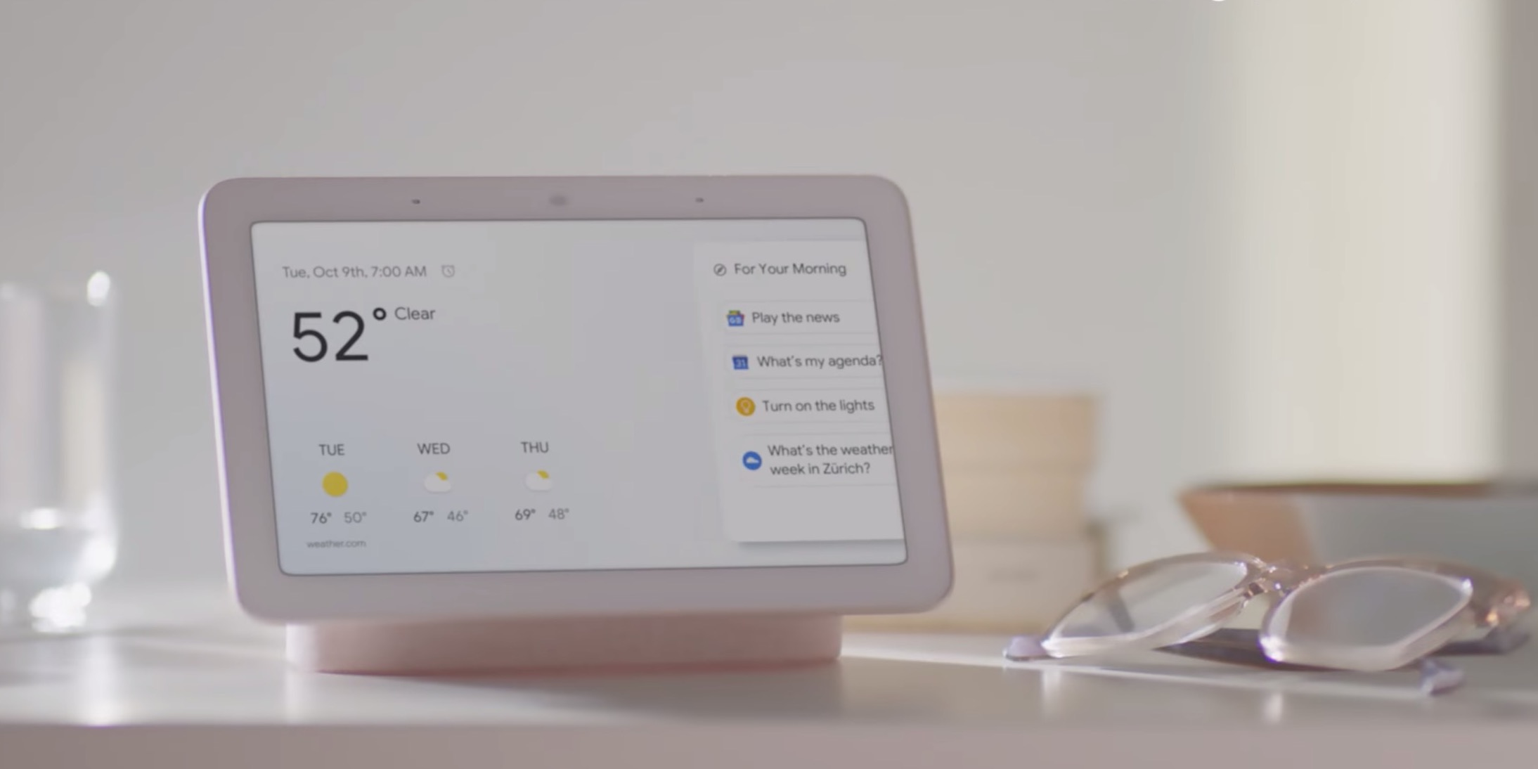 google announces google home hub its 7 inch assistant smart display