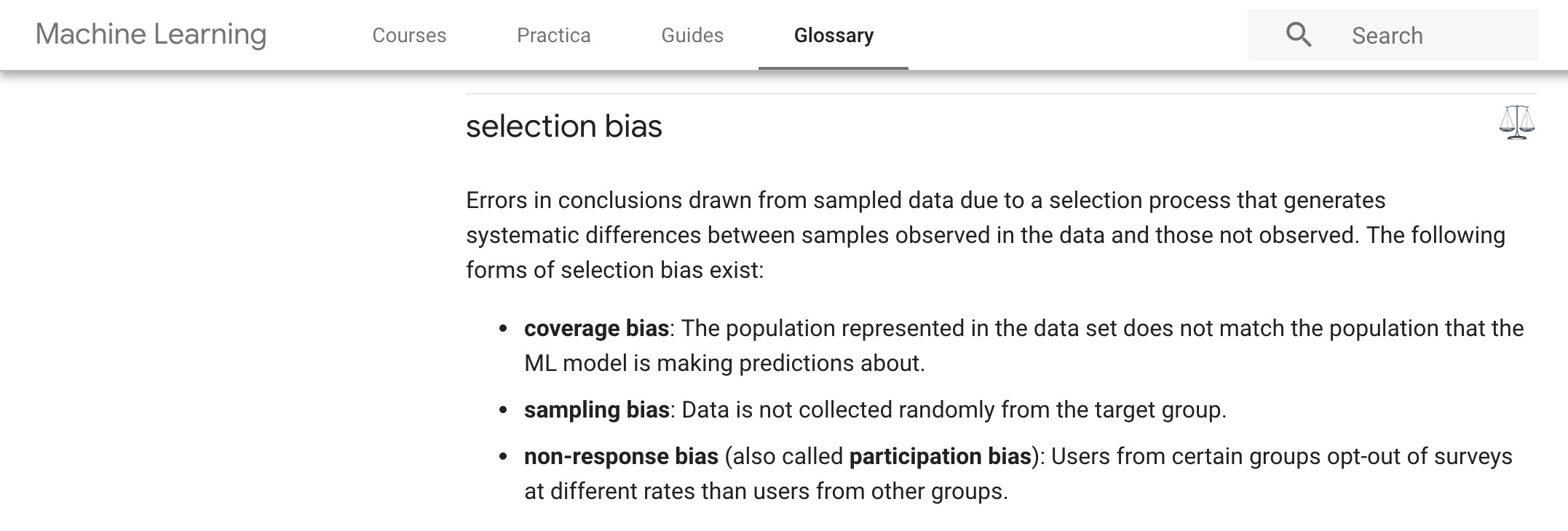 Google Machine Learning Glossary