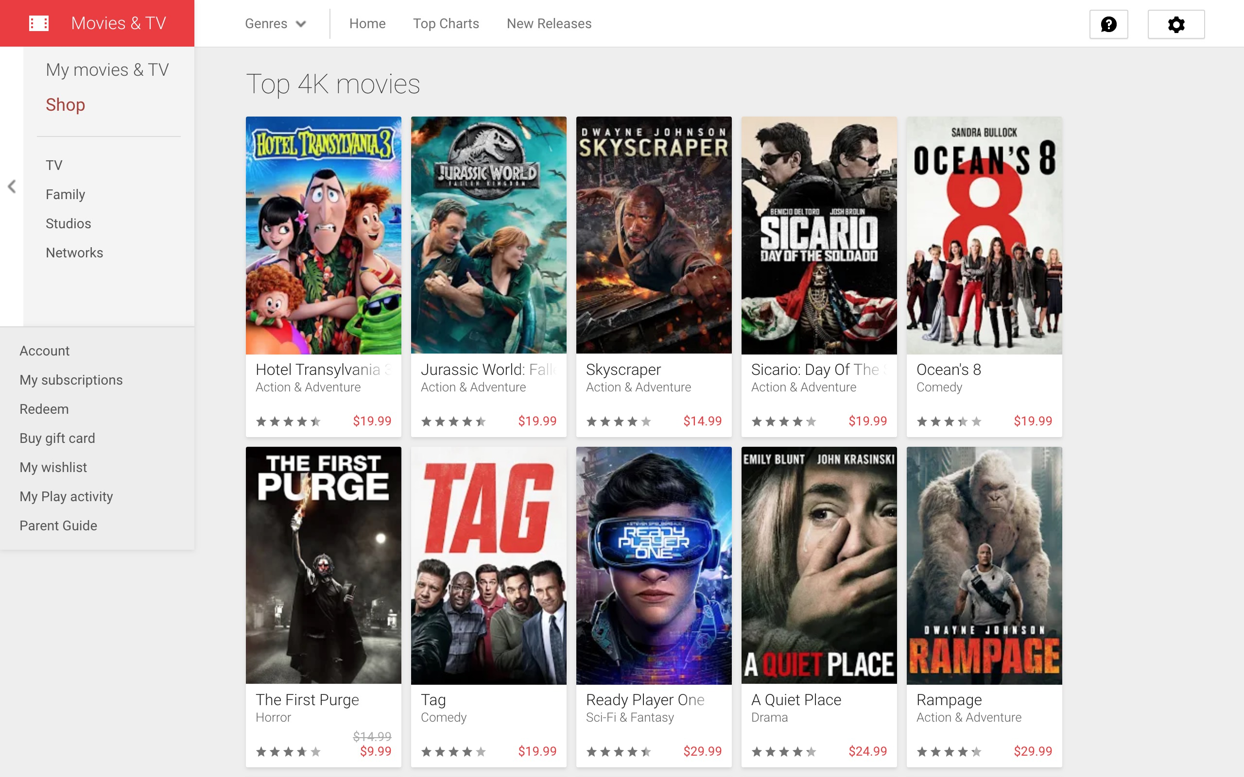 Google Play Movies upgrades SD/HD purchases to 4K for free