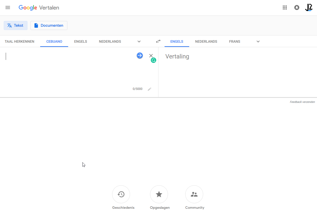 Google Translate redesign for web