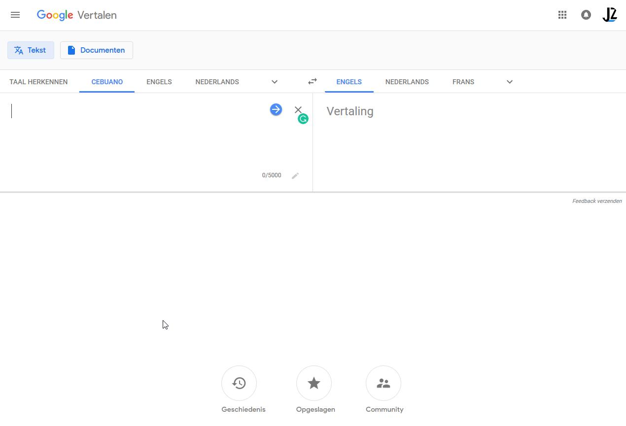 Google Translate redesign for web