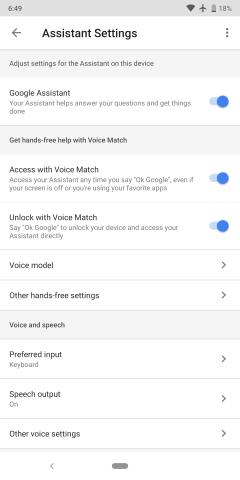 Android voice unlock