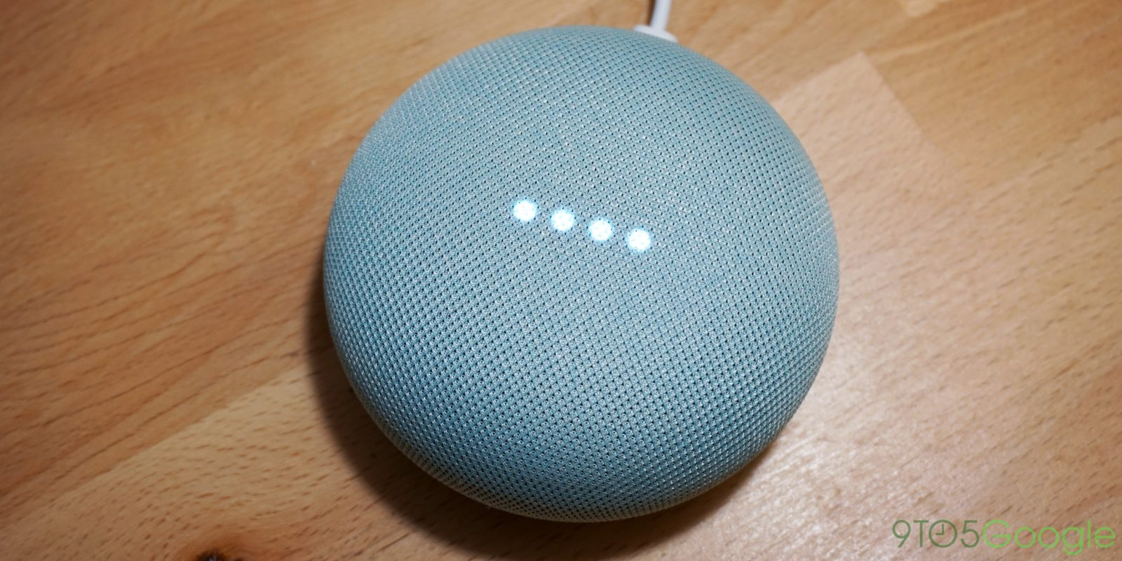 Hands on google home mini 39 s new 39 aqua 39 colorway 9to5google for Google home mini