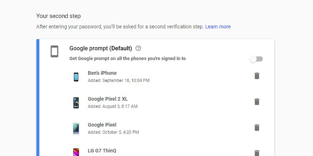 google prompt adds 2fa support for all the phones you re signed in on