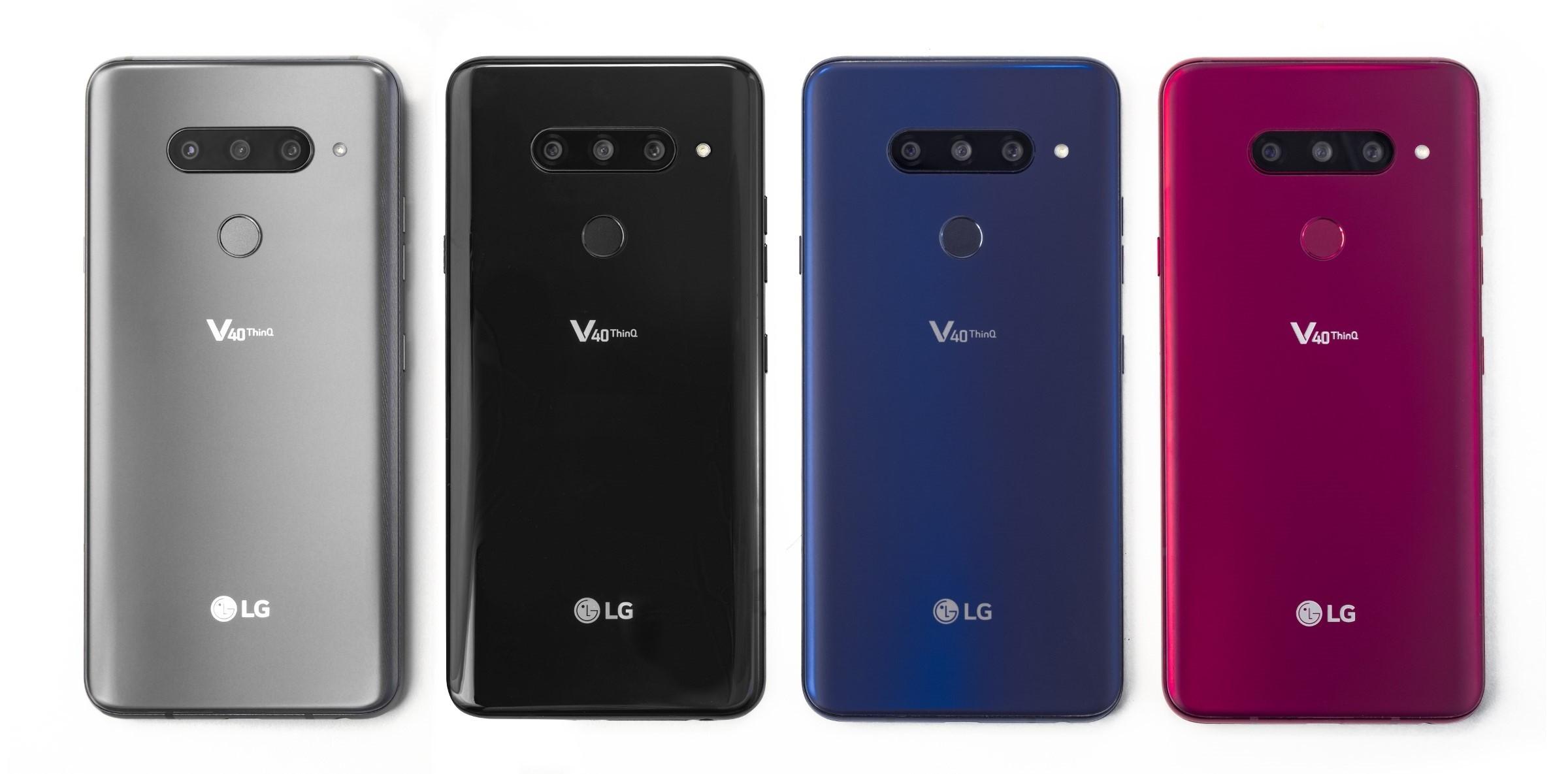 LG V40 ThinQ售价揭晓:900美元起,10月18日开售