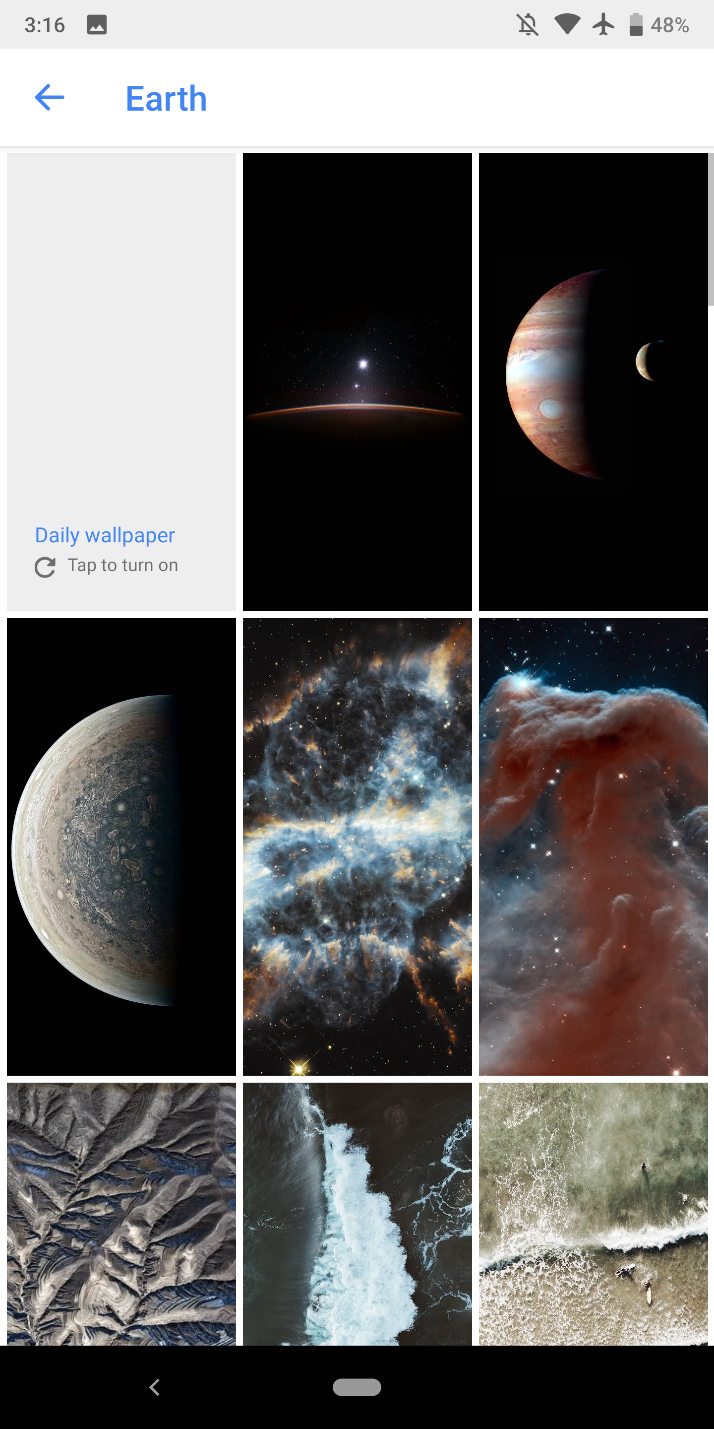 ... be available the next time you open the Wallpapers app. The new Google Wallpapers are available on both Pixel phones and every other Android device that ...
