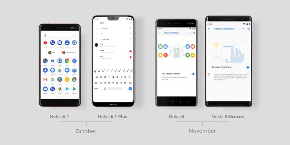 nokia will deliver android 9 pie to nokia 6 1 nokia 8 starting this month