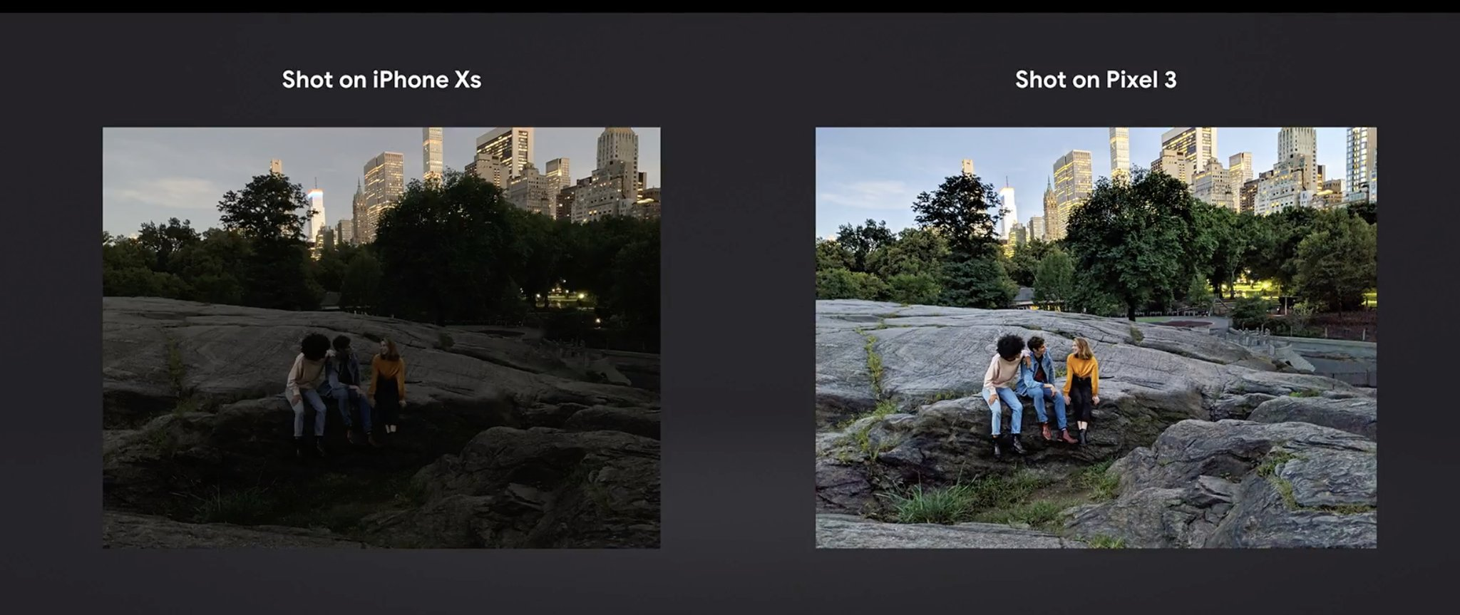 Pixel 3 vs iPhone XS Night Sight