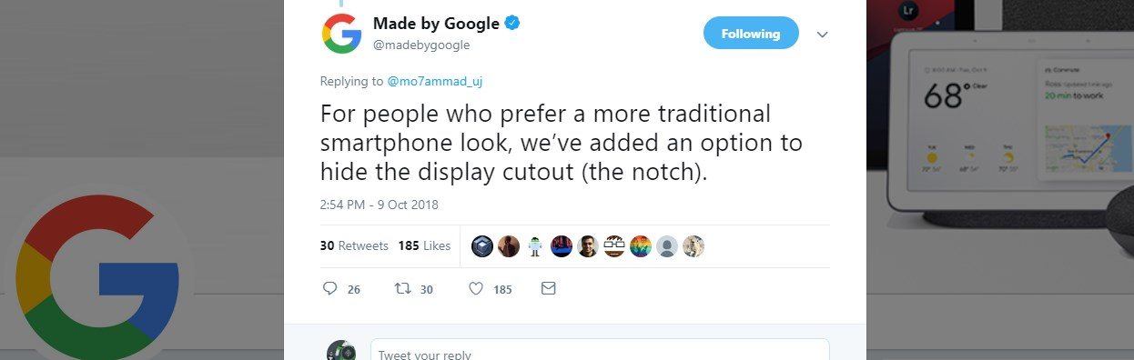 pixel 3 xl notch hide