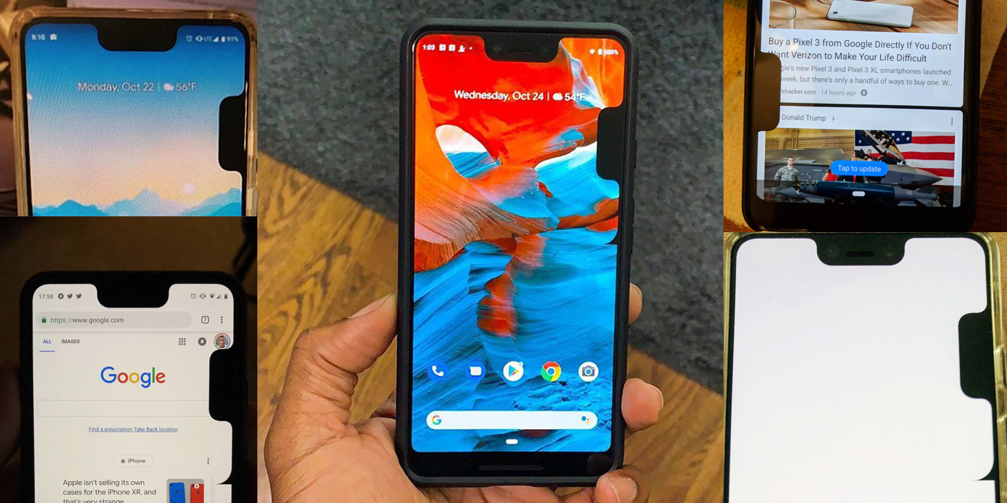 Pixel 3 XL bug adds a second notch, cause unknown - 9to5Google