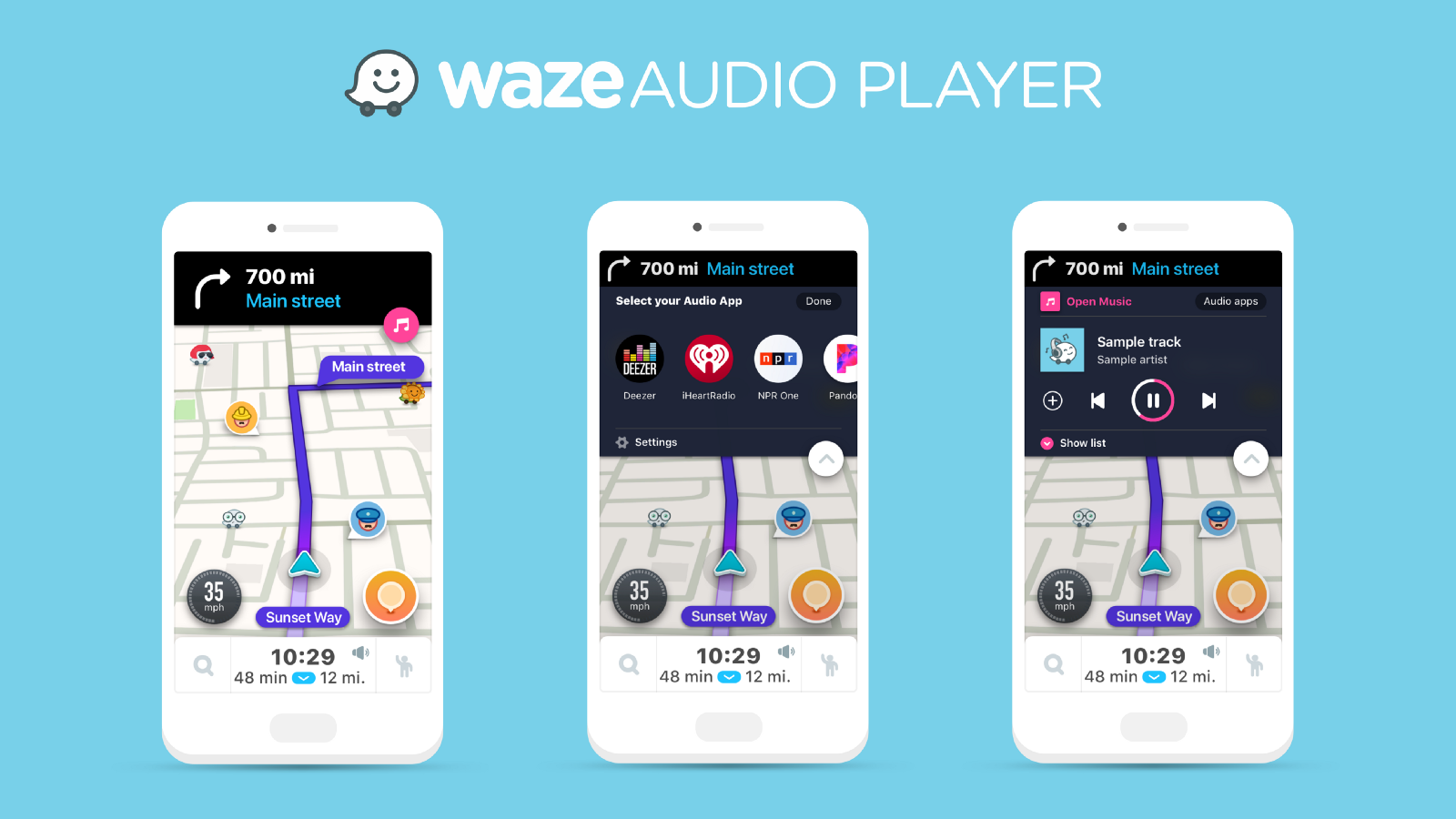 Waze for Android and iOS adding Audio Player integration w/ Pandora