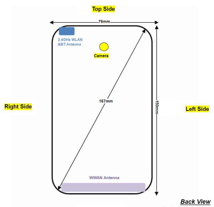 Moto G7 Power FCC diagram