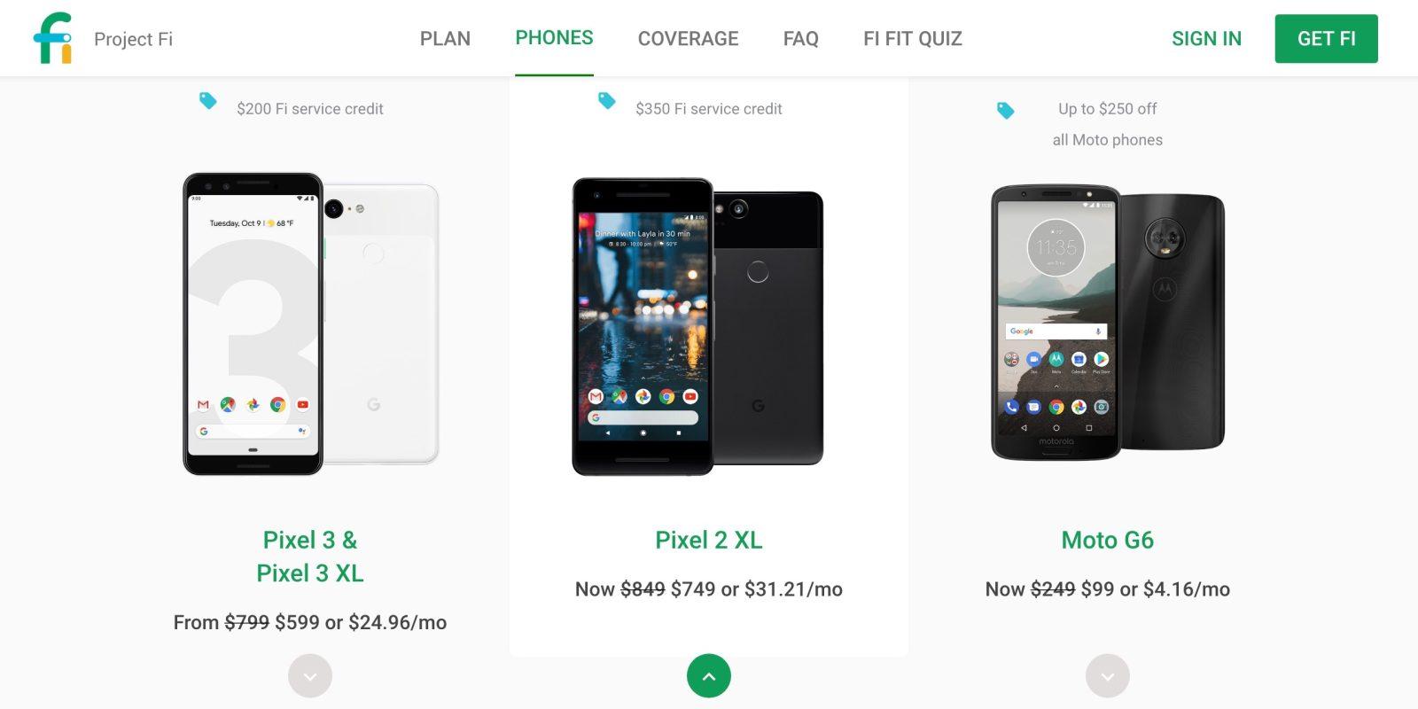 Project Fi Black Friday: $200 off Pixel 3, 3 XL + $200