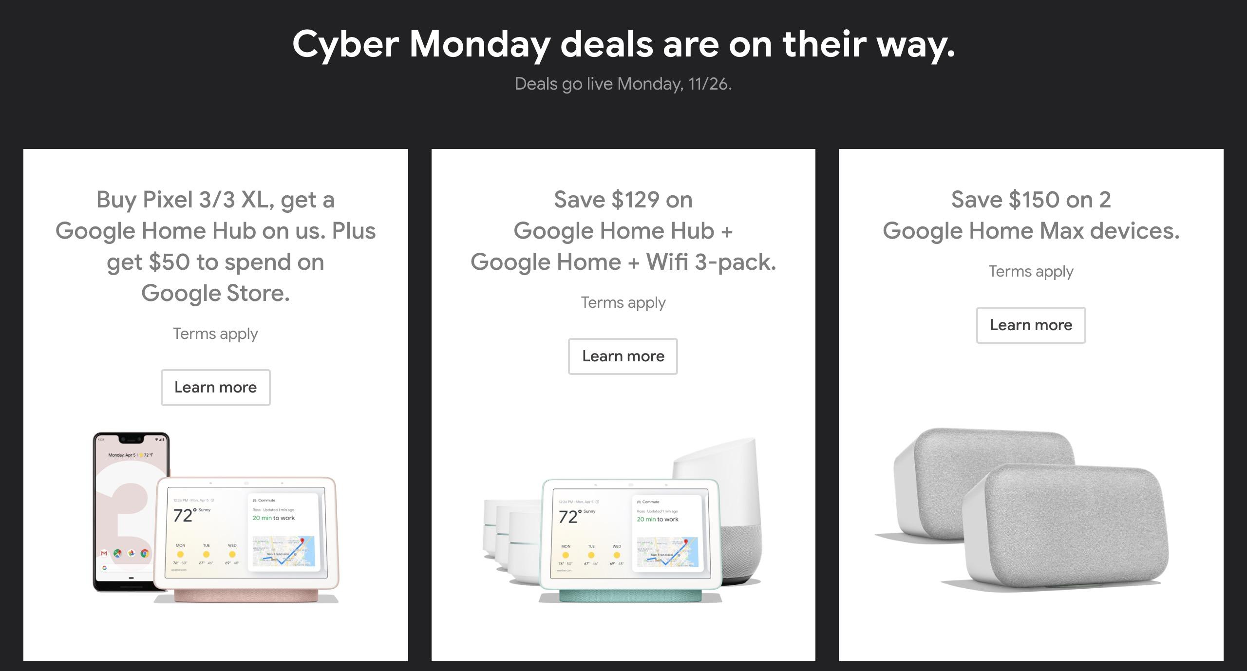 Google Store Cyber Monday