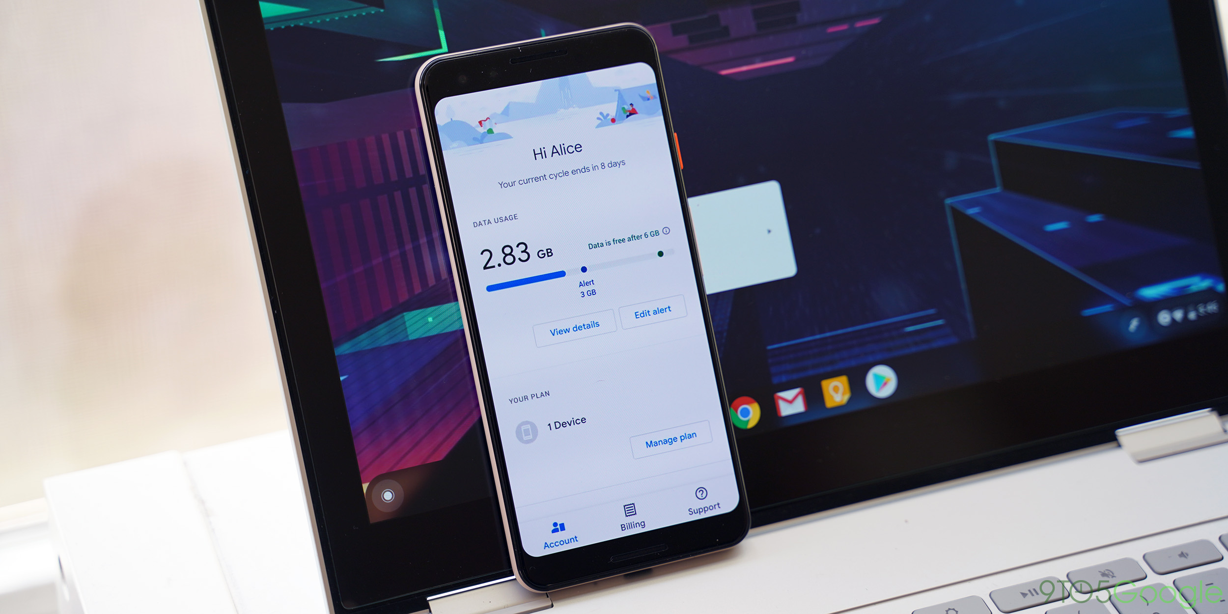 Google Fi Material Theme