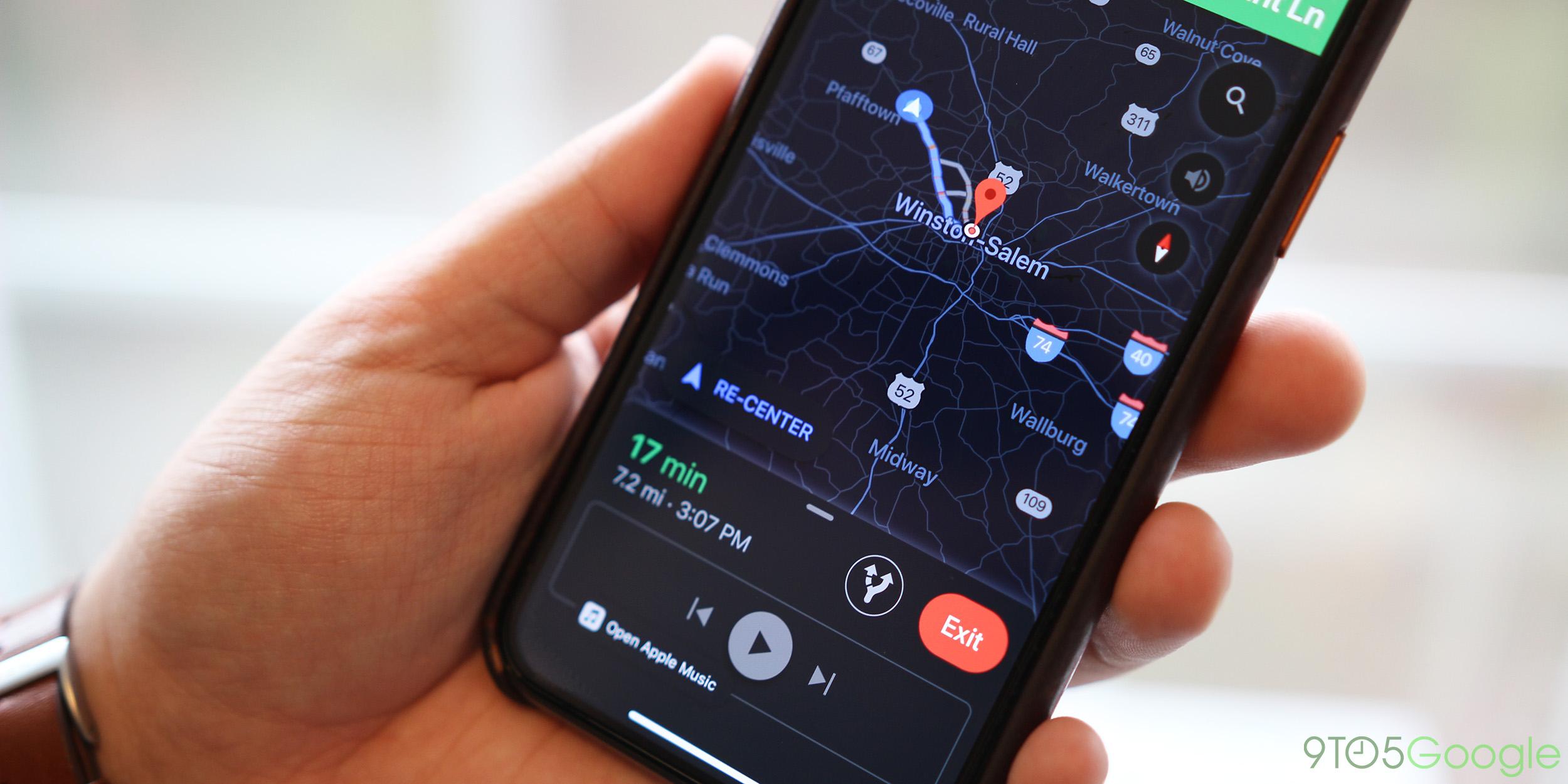 Google Maps échoué détour ios iphone