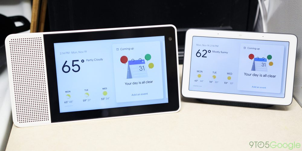 lenovo smart display versus google home hub