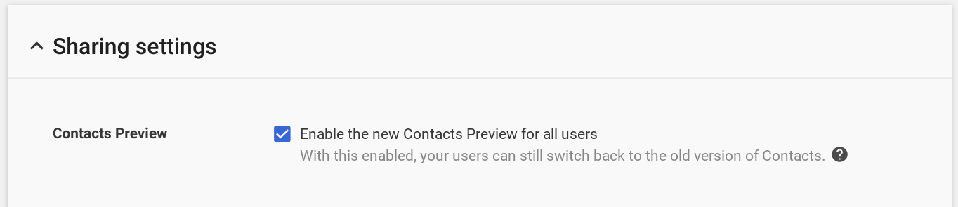 Old Google Contacts killed