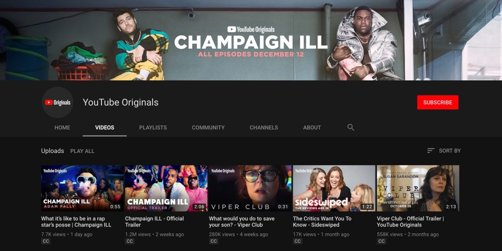 [Update: Schedule] New YouTube Originals after Sep 24th will be free with ads