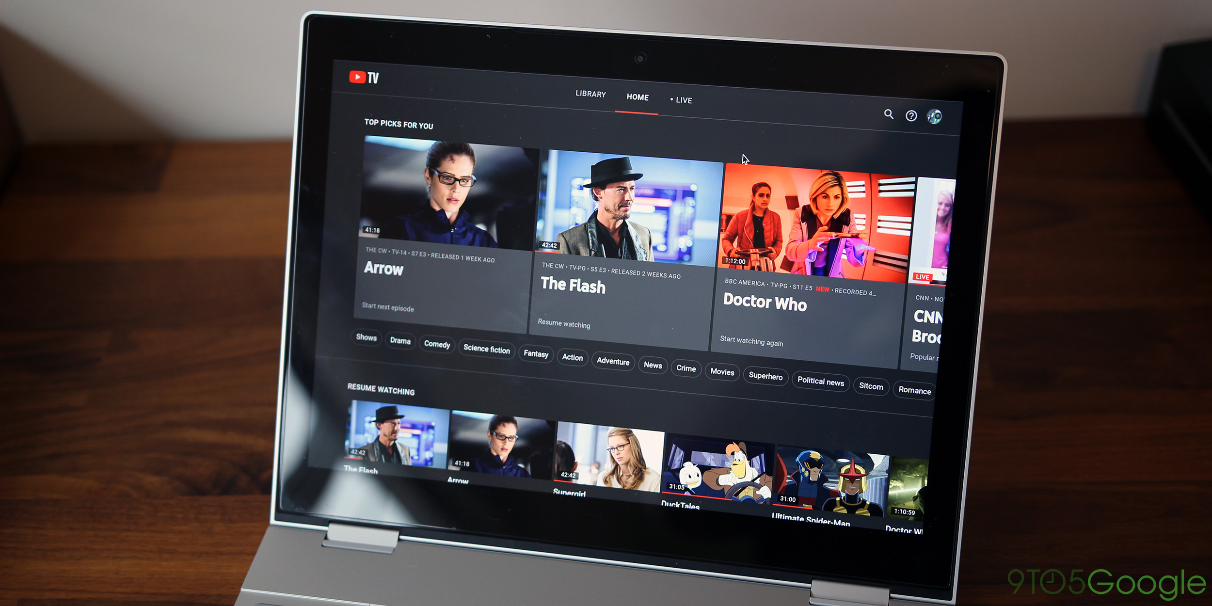 YouTube TV Dark Mode