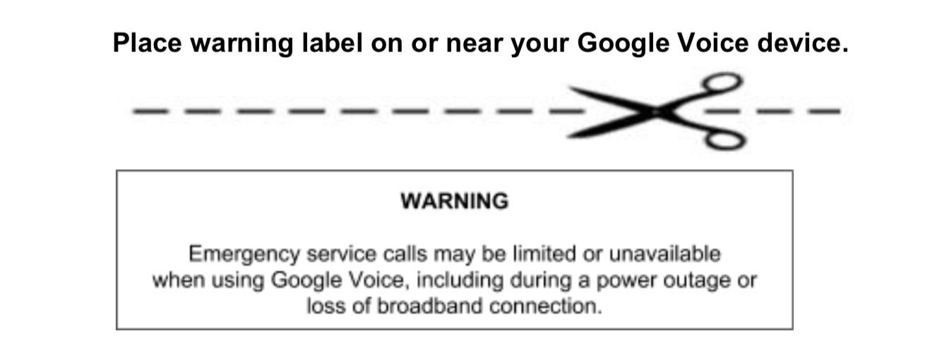 Google Voice G Suite emergency calls