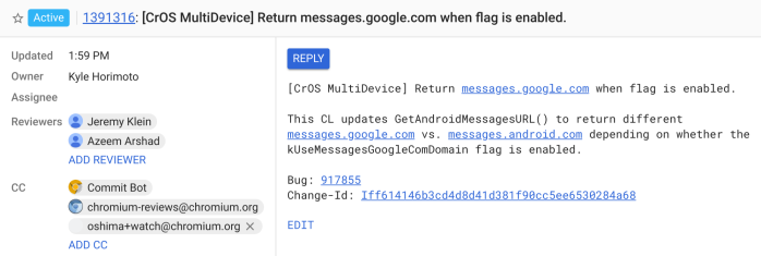 Google to change its Messages web app from Android.com to Google.com