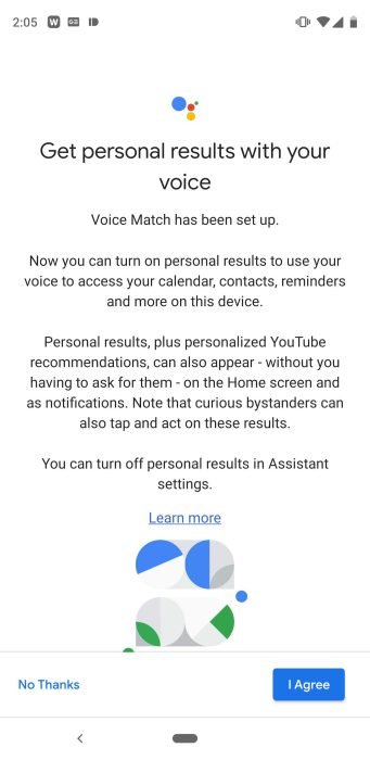 Dragonglass Android Assistant Voice Match