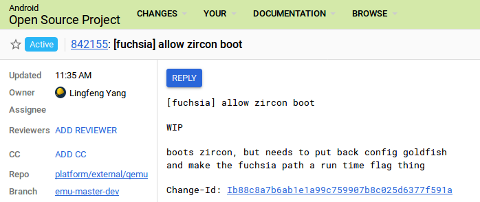 Official Android Emulator to support Fuchsia's Zircon
