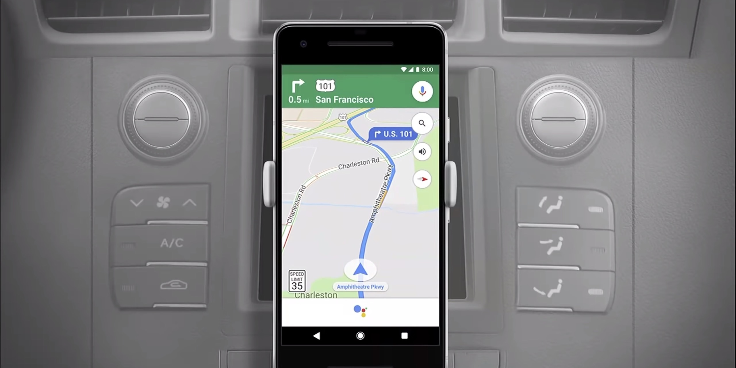 Google Assistant Maps navigation