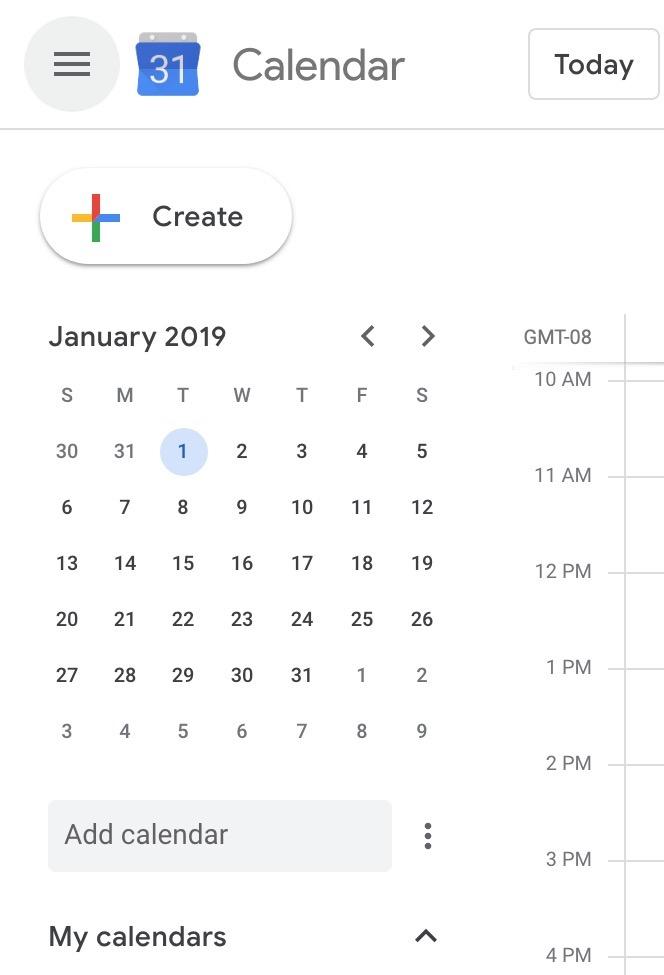Google Calendar On The Web Updated W Google Material Theme Tweaks