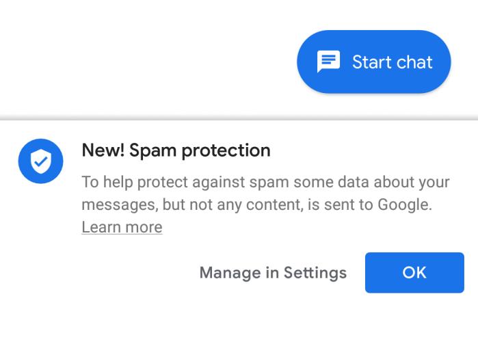 Google beginnt den Spam-Schutz in Nachrichten einzuführen