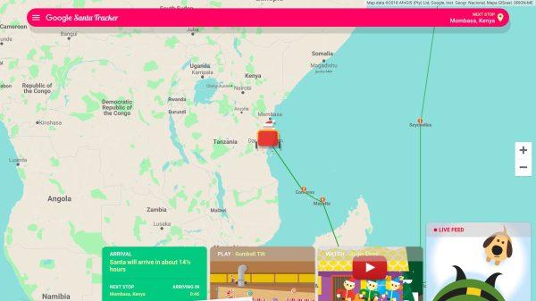 How to follow Santa on Christmas Eve with Google Santa ... Santa Map Tracker on santa satan, santa posters, santa visit, baseball map tracker, santa schedule, santa home,