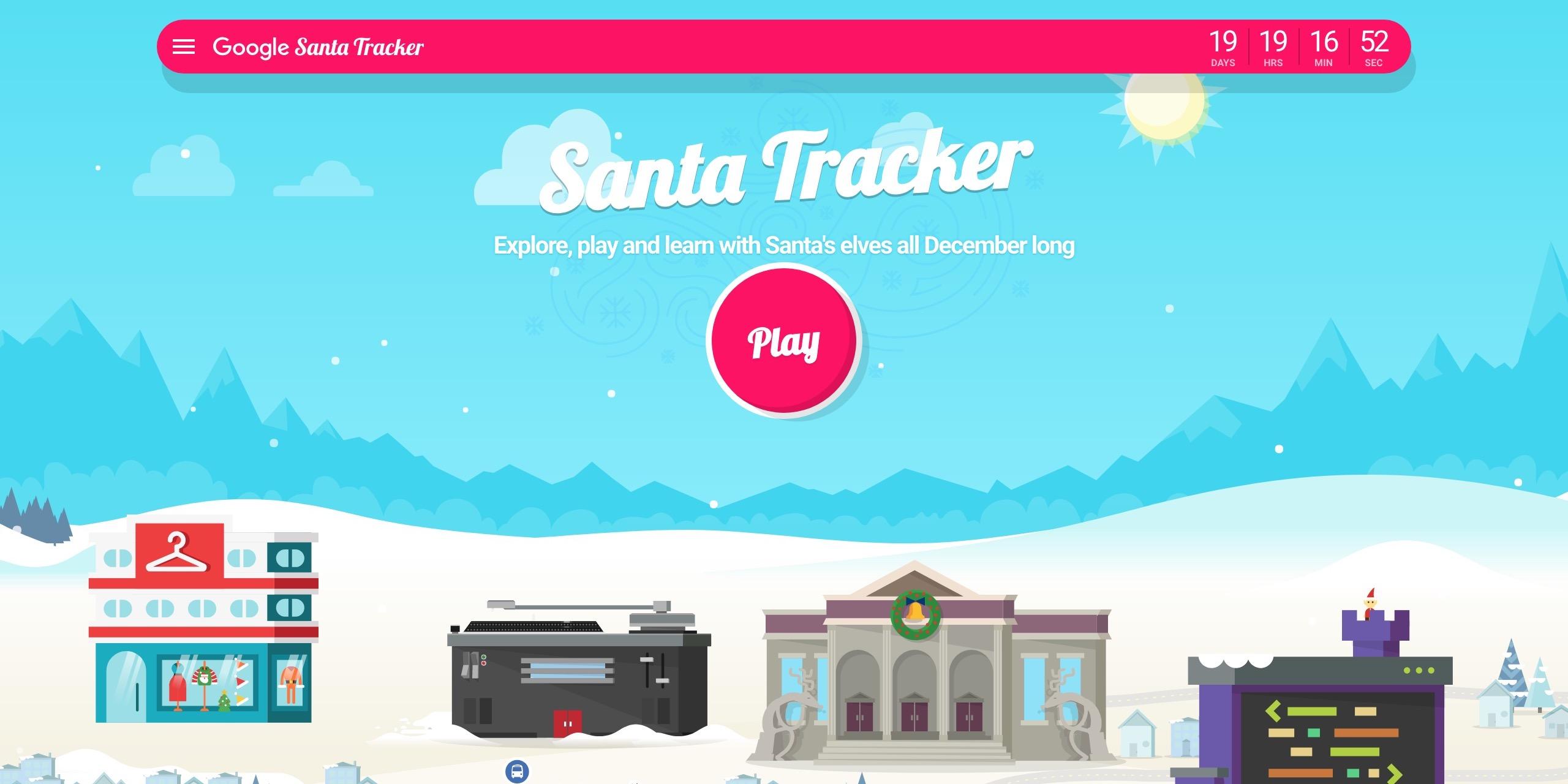 Image result for Google Santa Tracker Games 2018