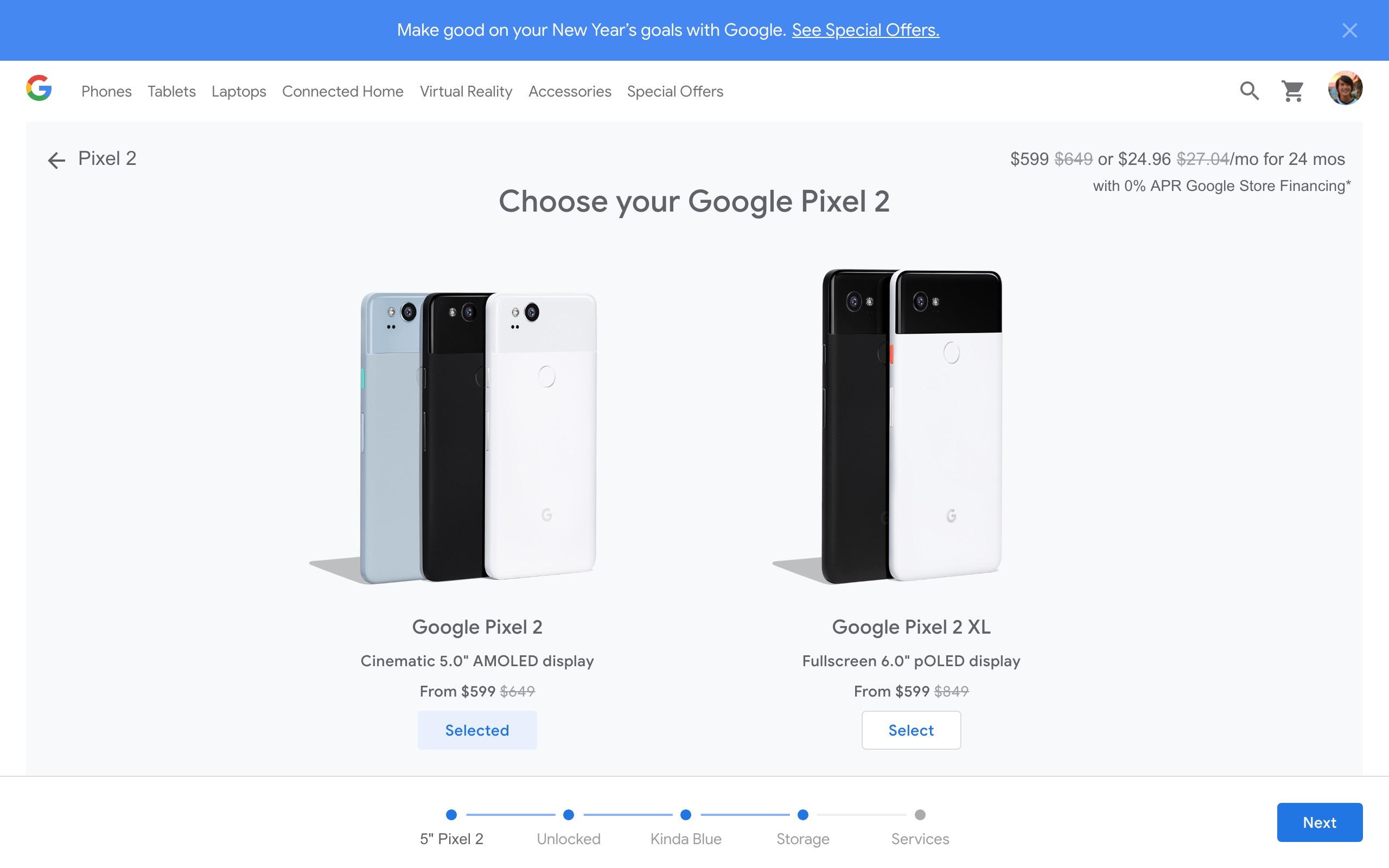 Google Store Pixel 2 discount