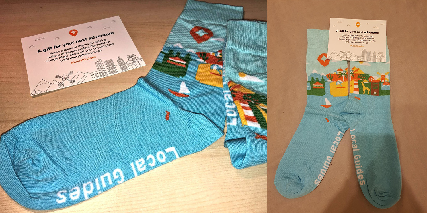 Google is sending free socks to some Local Guides - 9to5Google