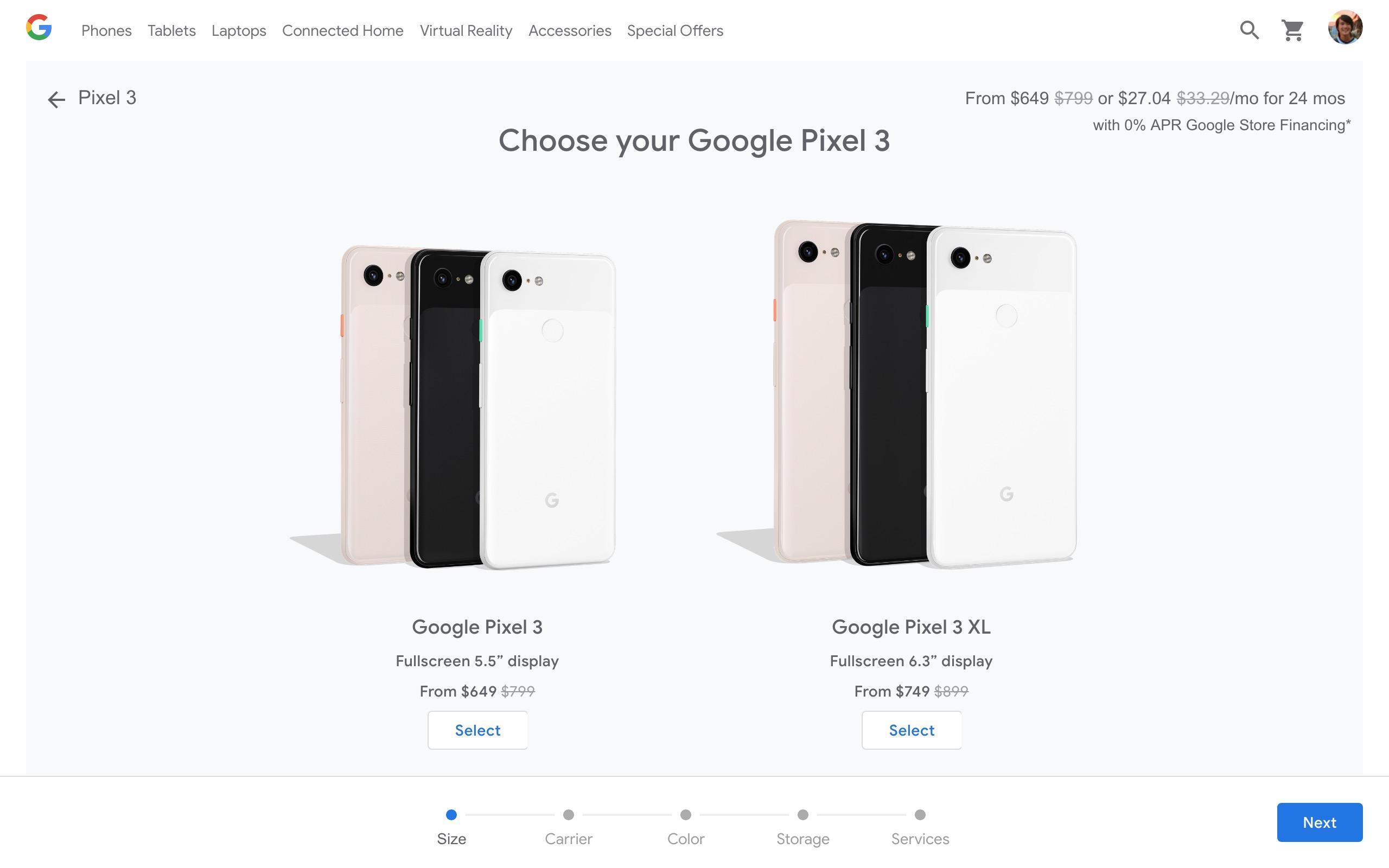 Google Store und Google Fi-Rabatt für Pixel 3, Pixel 3 XL um 150 US-Dollar