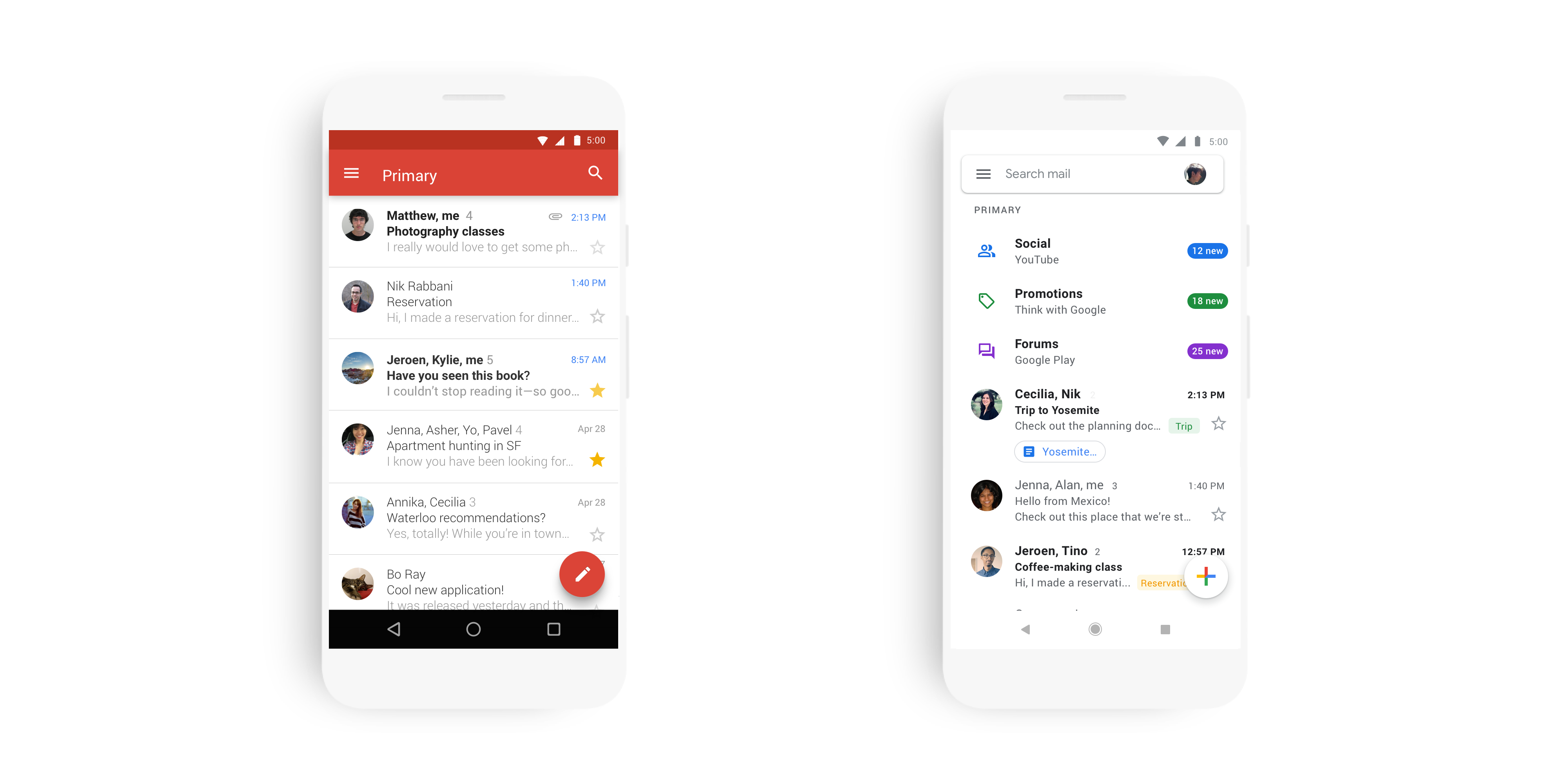 Gmail for iOS rolling out Material Theme redesign [Gallery
