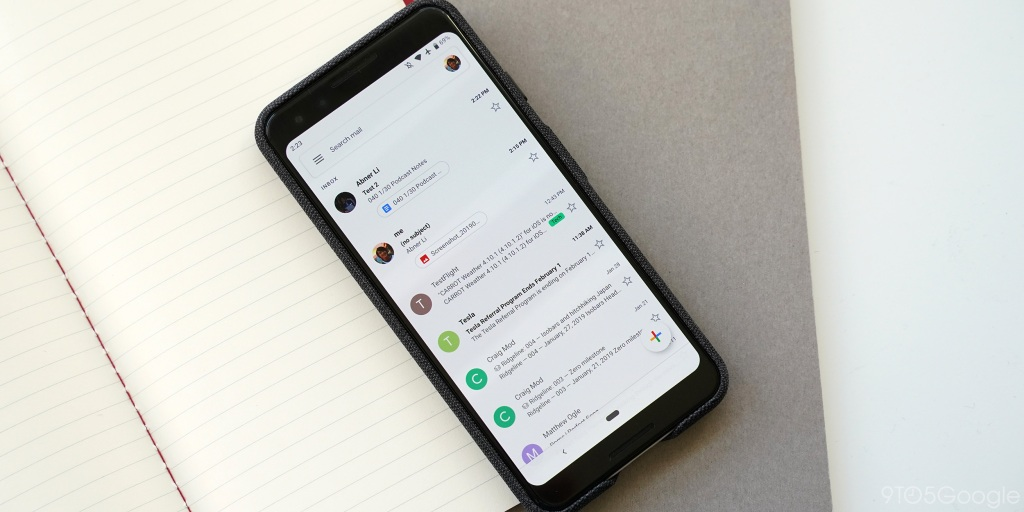 [Update: Widget dark theme] Gmail for Android updated with 'swipe-to-switch' account gesture