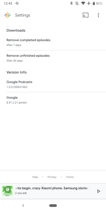 Google app 8 91 preps Podcasts auto downloads, more Material