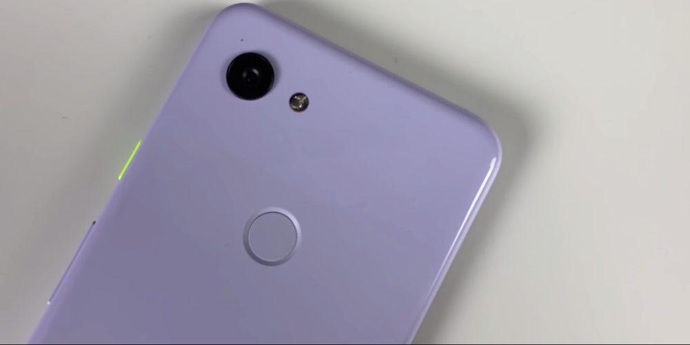 Google Picel 3a camera