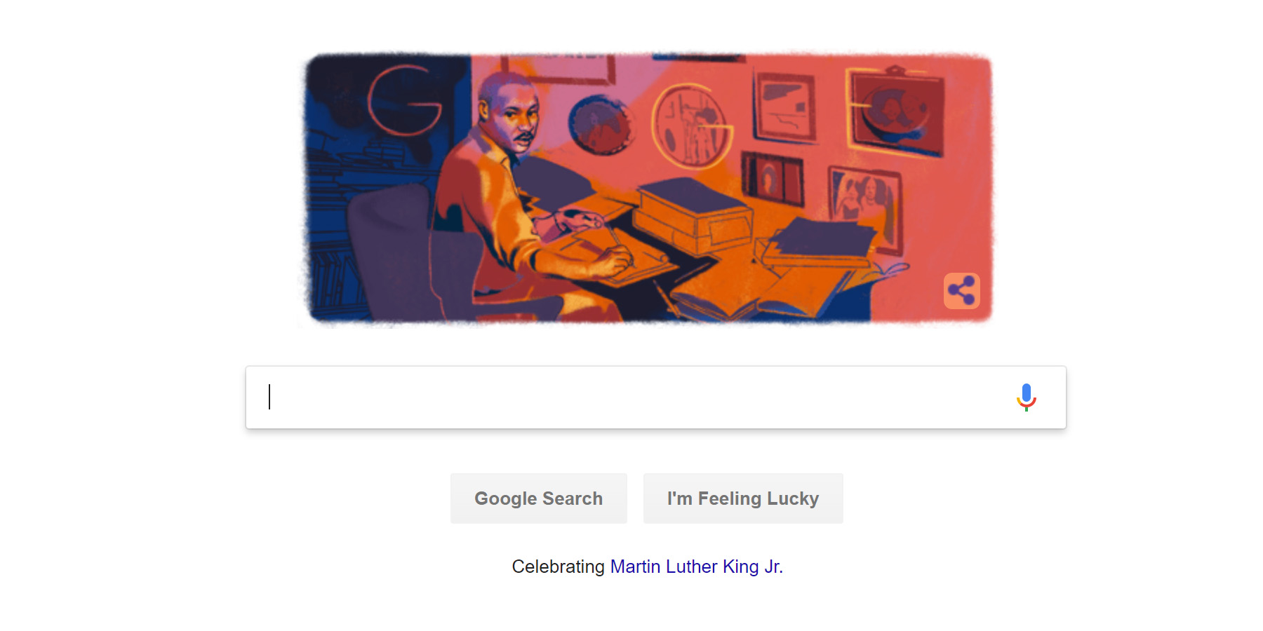 Google Celebrates Martin Luther King Jr Day With Special Doodle