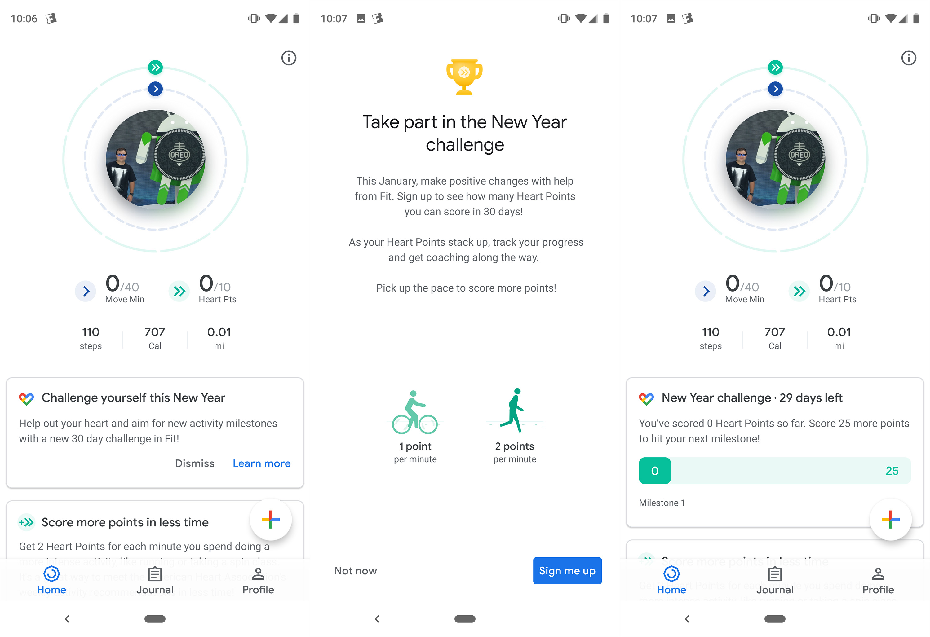 google fit new year challenge