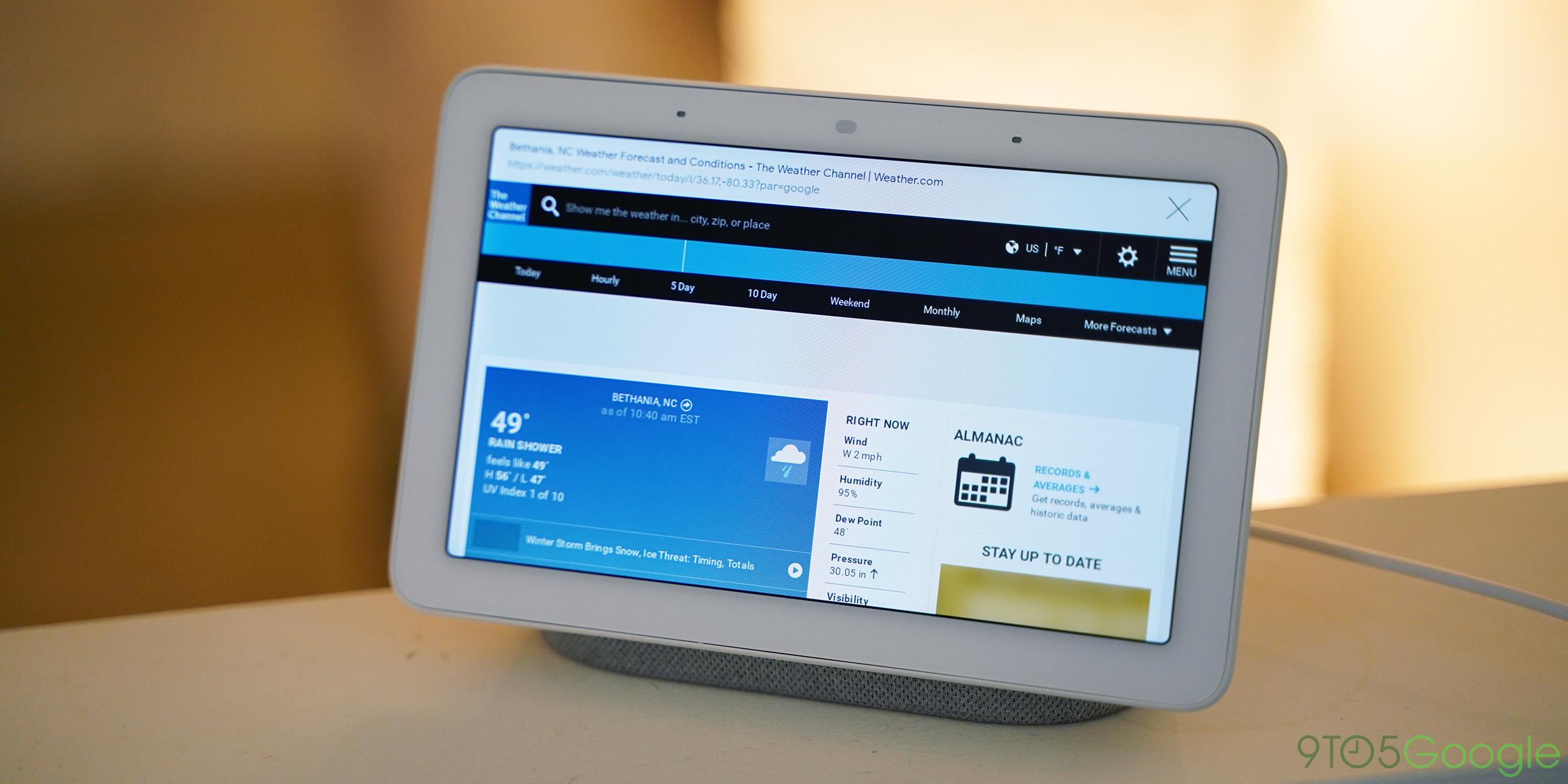 PSA: Der Google Home Hub verfügt über einen integrierten Chrome-Webbrowser