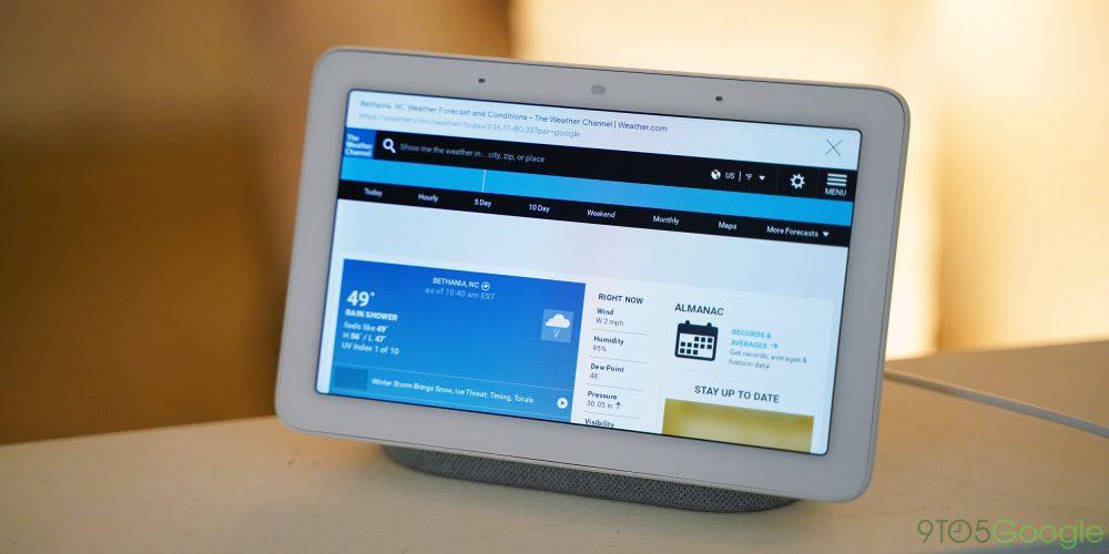 Google Home Hub browser