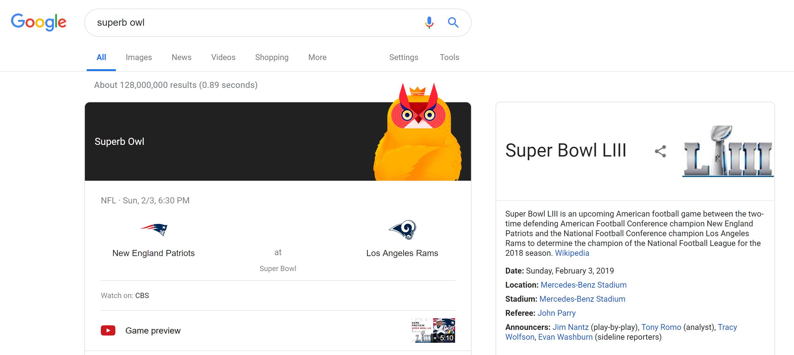 google easter eggs 2019