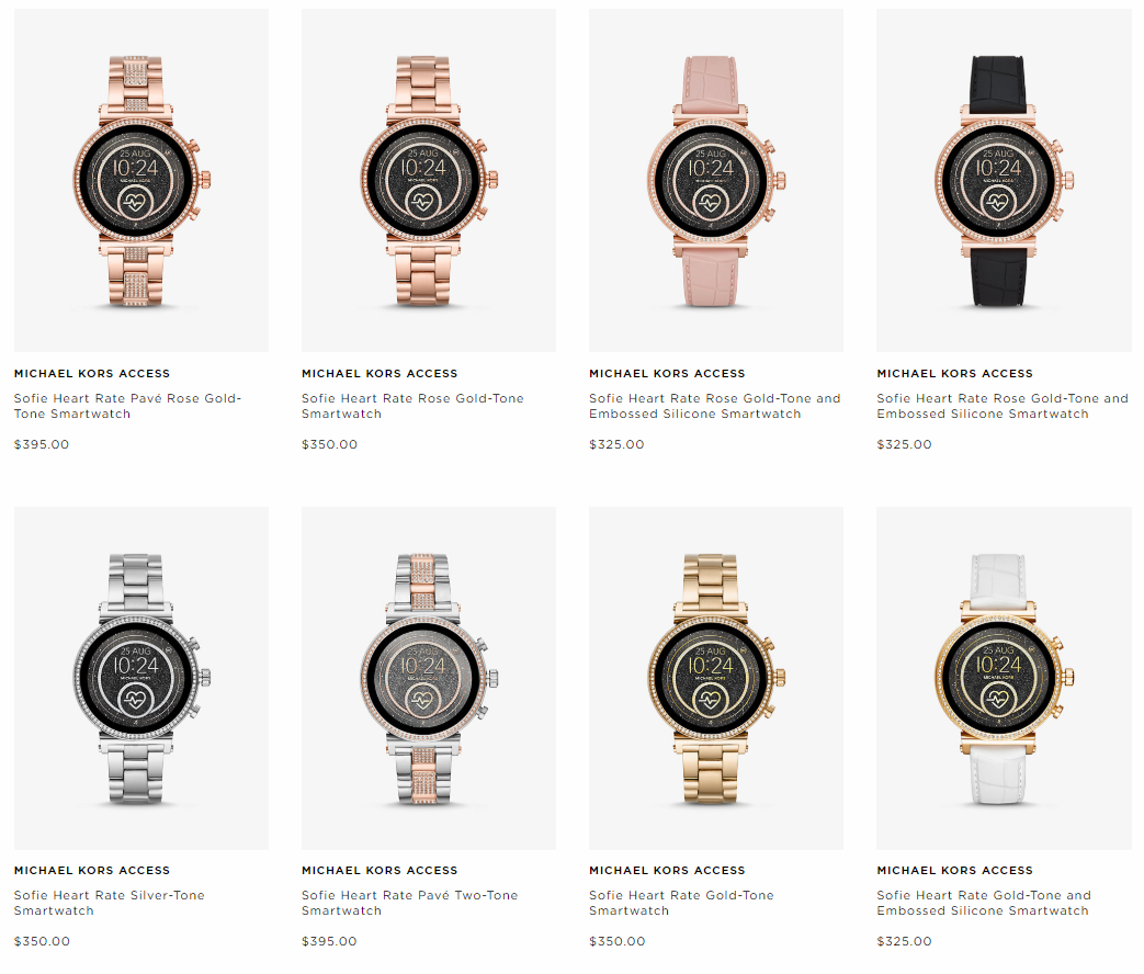 michael kors sofie heart rate pricing
